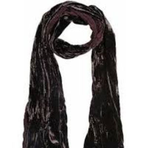 John Varvatos Two-Sided Leopard Silk/Velvet Scarf